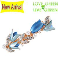 2014 new Free Shipping  wedding bridal pearl rhinestones flower Headress hairpin barrettes accessories Hair jewelry 2008