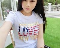 New arrival 2014 fashion brand t-shirt women clothing summer t shirt cotton tops for womens tee shirts free shipping