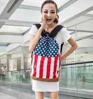 2014 school bag fashion flag shoulder bag kid bags ladies after school backpacks vintage backpack frozen bicycle backpack
