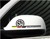 car styling Mirrors sticker volkswagen golf 6 7 polo JEETA PASST CC  BORA  car sticker rear view mirror decorative stickers