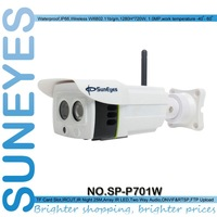 SunEyes SP-P701W ONVIF 720P 1.0 Megapixel HD Wifi Wireless IP Camera Outdoor Project High Quality Array IR 25M SD/TF Card Slot