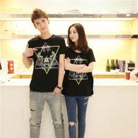 New mens Tee Summer new  fashion casual short T-shirt printing sleeve  black free shipping