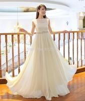 2015 autumn maxi long dresses women summer beading evening party dresses chiffon casual dress white vestido de festa femininas