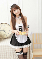 2014 New Sexy Japanese Women Clothes/Maid Lolita Uniform Halloween Costume/Lace Dress Women Cosplay Outfit