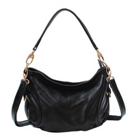 100% Genuine leather women's handbag fashion leather messenger bag first layer of cowhide women's one shoulder pleated small