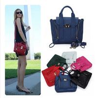New arrivel 2014 Women summer famous brand leather handbags Vintage candy colors MINI messenger bags Y0564