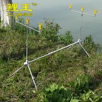 Fashion adjustable traditional aluminum alloy fishing alarm fishing rod dual mount