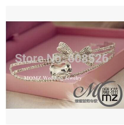 Fashion hair accessory stubbiness bride bow hair bands wedding hair accessory marriage