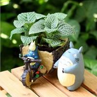 Totoro tricycle flowerpot home desktop decoration birthday gift