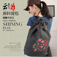 Hotselling new 2014 fashion women's backpack vintage cotton prints backpack canvas travel bag student school bag women bag