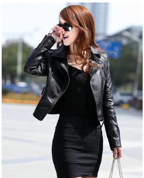 Женщины leather jacket, Winter Motorcycle Кожа PU является высокотехнологичным и ...