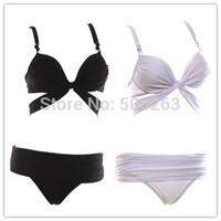 Hot Sale 2014 Sexy Women High Waisted Bikinis set Bikini Push Up Cross Padded Beach Swimwear Swimsuit Trikini bathing suit Bk07