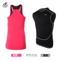 2014 workout clothes male female tight vest fitness nylon lovers design sports vest