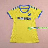 CHELSEA WOMENS Yellow Away 2014/15 futbol Soccer jersey football kits Shirts Uniforms Hazard Oscar Schurrle LAMPARD TERRY TORRES