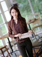 New 2014 Hot Sell Fashion Women Chiffon Blouse Retro Totem Printed Sexy Slim Stand Collar Button Shirt Women Blouse Tops  #C0805