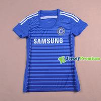 CHELSEA FC WOMENS BLUE HOME 2014/15 futbol Soccer jersey football kits Shirts Uniforms Hazard Oscar LAMPARD TERRY TORRES Jerseys