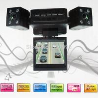 Free shipping Mini Dual Rotatable Lens Vehicle Camera Car Black Box DVR Dashboard English  Russian  Japanese  Korean