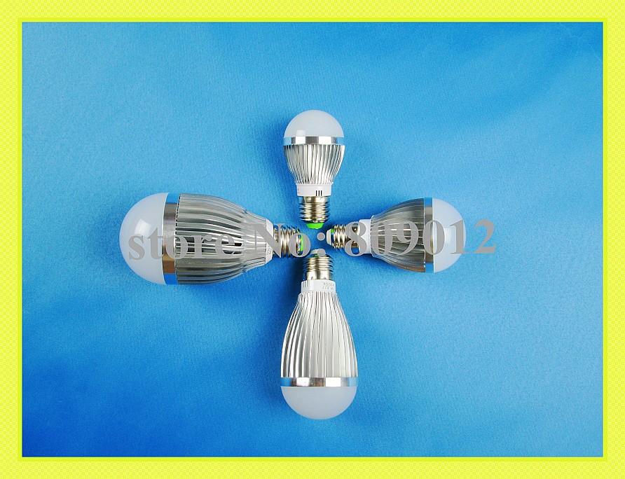 high bright aluminum SMD 5730 LED bubble ball bulb light lamp LED globe bulb E27 3W 5W 7W 9W SMD5730 AC85-265V free shipping(China (Mainland))