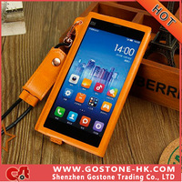 New Arrival Ultra-thin High Quality PU Material Protective Case For xiaomi mi3 Cover Case Dirt-resistant Free Shipping