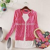 2014 fashion women coat small love heart sweater PLUS SIZE cardigan knitted coat