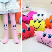 Children Clothing Wholesale 5pcs/lot,Cute Smile Pattern Clild's Trouser,Velvet Kid Pantyhose,Girl Stockings 11 Colors