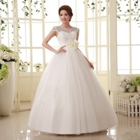 Hot free shipping 2014 The New Wedding dress hy bandage lacing paillette princess wedding dresses  sweet