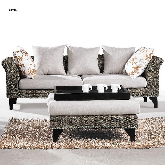 Five-piece rattan living room furniture I hotel portfolio leisure sofa square coffee table tea table wood tray Huanxie Gordon(China (Mainland))