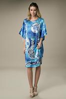 2014 High-grade Silk Nightgown 100% Silk Pajamas Cool Breathable Promote Sleep Free Size YBP184- Free Shipping