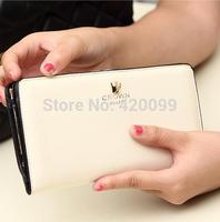 2014 New Top Grade PU Women Wallets Brand Change Purses Long Leather Clutch Wallets Multi Colors Wallets Free Shipping
