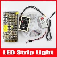 Addressable 2*5M LPD8806 Digital RGB LED Strip 5V 5050 SMD 48 LED/M Waterproof IP67 +133 RF LED Controller + 5V 20A Power Supply