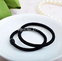 Wholesale 100pcs/lot Black Color Hair Rope Cheap Elastic Hair bands Girl's Hair Ties  PEB-0148