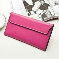 New style bag 2014 fashion women leather handbag genuine leather envelope clutch natural skin women purse long section wallet