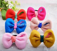 18 PCS New Arrival Fashion Fabric Hair Bands Big Bow Hair Ties/ Grils Hair Ropes Women Hair Accessories PEB-0149