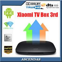 Xiaomi Andorid TV Box 3 Google 4.4 Amlogic S802 Quad Core Media Player Cortex-A9 4K 3D HDMI 2.4/5G Wifi Dolby  DTS Mini PC