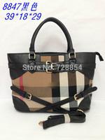 Free shipping 2014 New Arrival Fashion Popular North American Famous Brand  Handbag Bag Purse Black Color Shoulder 4 colors 394