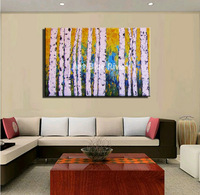 large canvas wall art  abstract modern decorative colorful huge tree oil painting on canvas for bedroom living room decoration