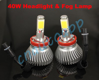 H11 / H8 40W LED Light Car Headlight Auto LED Fog Lamp - One set