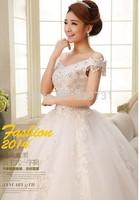 Grid Yarn Wedding dress, ball gown, princess style,floor length