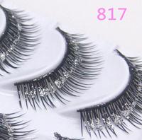 Beautiful Crisscross False Eyelashes with shimmering powder Performance Eyelash Makeup 817
