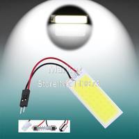 2pcs 6W COB 36 Chip LED Car Interior Light T10 w5w Festoon c5w Dome Adapter Car Vehicle LED Panel Auto car light source