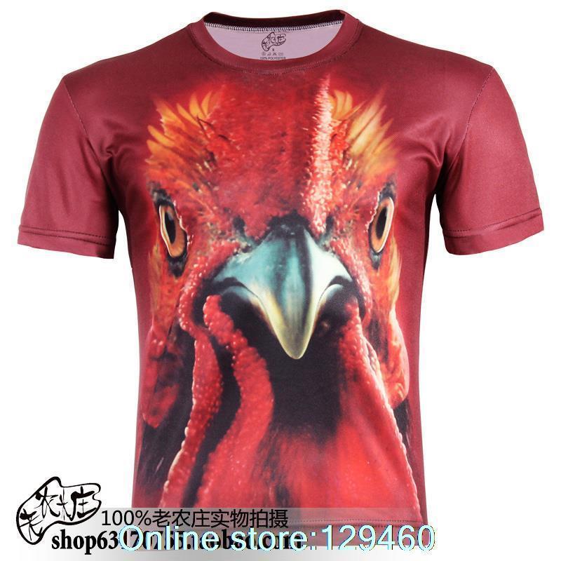 Summer trend compassionate animal fat turkey 3d-shirt plus fertilizer XL fashion men's round neck short sleeve t-shirt(China (Mainland))