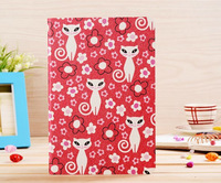 1pc on sale ! Luxury silk pattern MISS cat Case for ipad mini Freeshipping