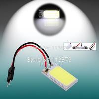 2pcs  3W COB 18 Chip LED Car Interior Light T10 ba9s Festoon Dome Adapter led Car Vehicle LED Panel Auto car light source