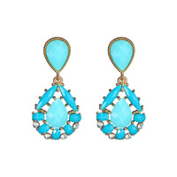 Wholesale or retail hot Sales Jewelry 2014 new fashion alloy earrings colorful casual for women gift 6pairs/lot 3color ER-30