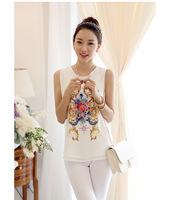 New 2014 fashion chiffon tank top summer women shirt printed casual sleeveless vest S/XL