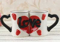 Free Shipping love cups,tea cup, cheap tea cups,creative cups,porcelain cups,coffee cups