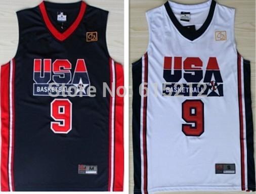 1992 USA Olympic dream team #9 Michael Jordan black throwback retro New Material Rev 30 Cheap basketball jersey stitched jerseys(China (Mainland))