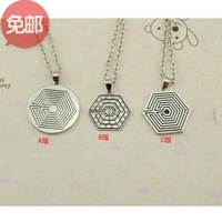 Exo overdose necklace wholesale price free shipping k-pop kpop k pop fashion accessories rhinestones silver plated  three styles