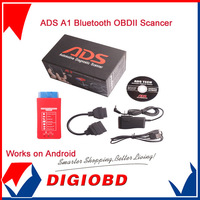 2014 Automotive Diagnostic ADS A1 Bluetooth OBDII Scanner fit Asian,American,Chinese cars Two years free Software update Online
