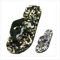 Summer New Arrival Fashion Men's Sandals Beach Slippers Camouflage Massage Bottom Brand Flip Flops Big Size 40-44